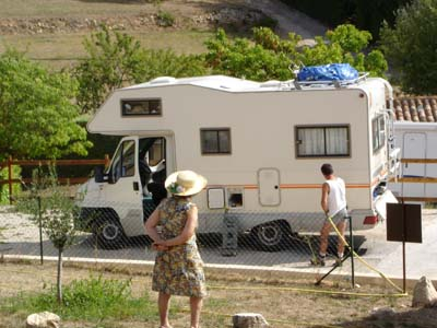 Camping Manaysse Moustiers Sainte Marie aire service camping car